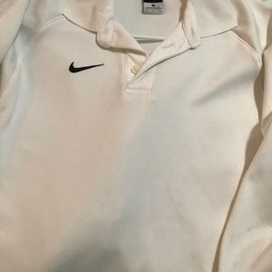 Men's Nike Golf Dry Fit Solid White Long Sleeve